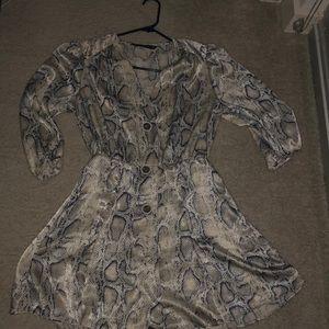 Zara Snakeskin design dress